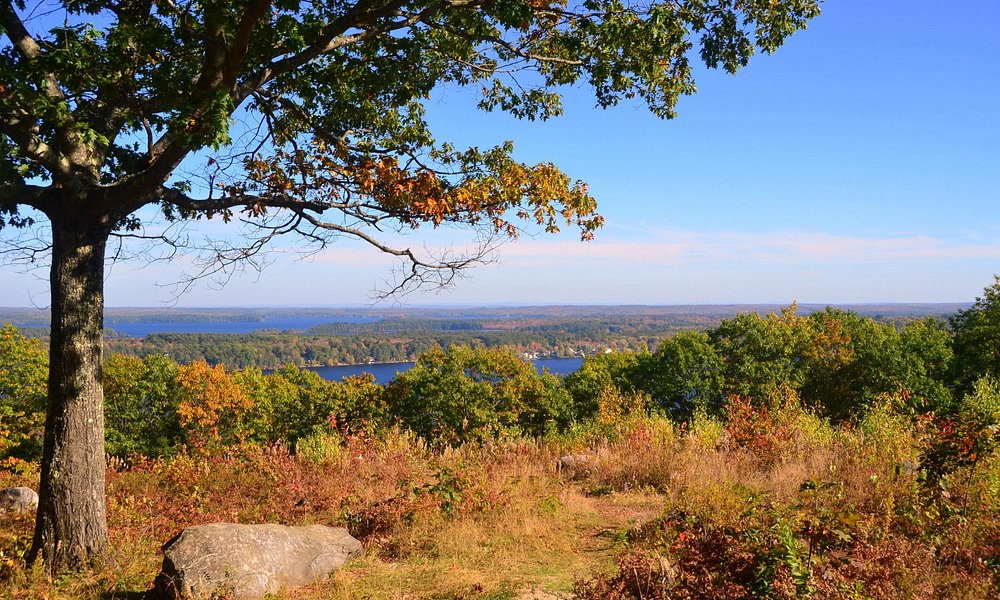 Looking over lakes from Blueberry Hill