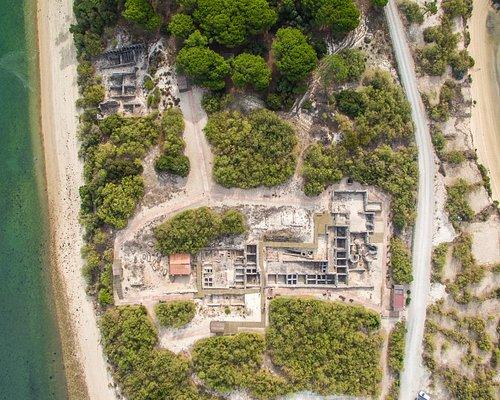 Ruínas Romanas de Troia - Vista aérea