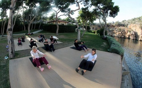 Pilates at Vouliagmeni Lake