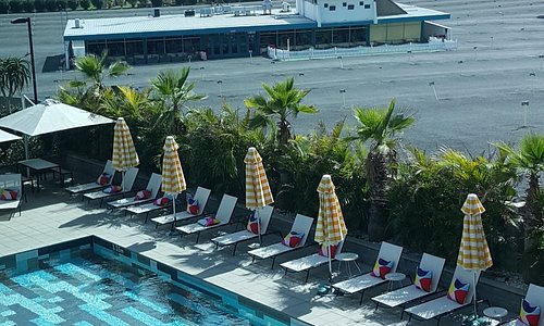 Atura Hotel pool and drive-in theatre.