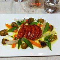 Cabillaud au chorizo et à l'huile d'olive