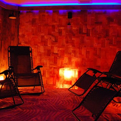 The interior of our authentic Himalayan Salt Cave