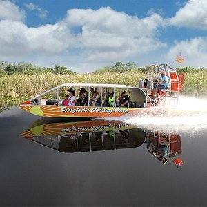 Sundance ripping across the water on an everglades tour!