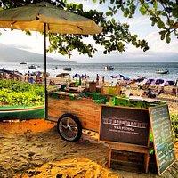Food-cart Nhá Pudina na Praia da Armação