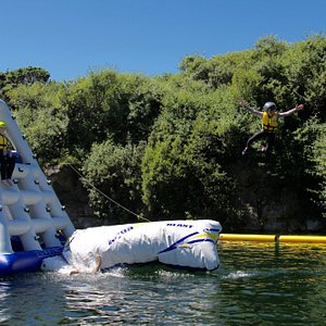 Our Aquapark lets you blast off in safety!