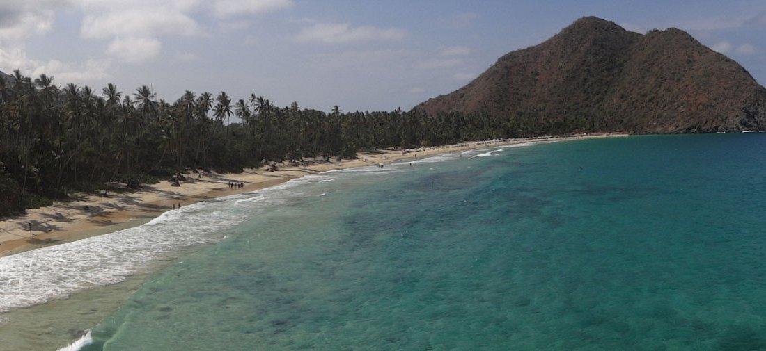 Vista de Playa Grande desde las montañas del PN Henry Pittier.