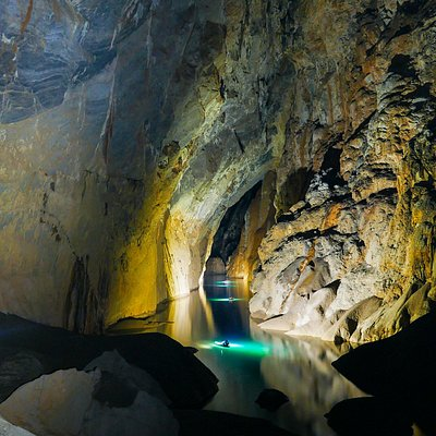 River passage inside Son Doong cave