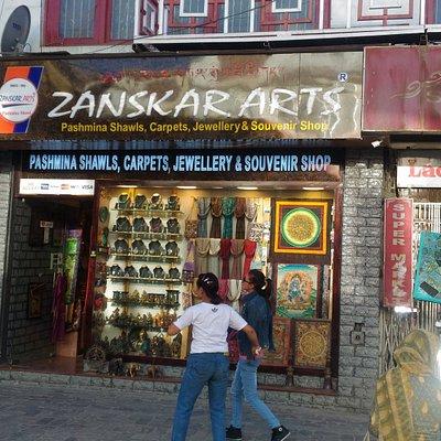 Zanskar Arts store in Leh market