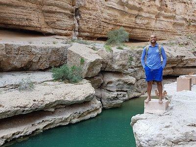 Juma notre guide lors de notre balade au Wadi Shab.