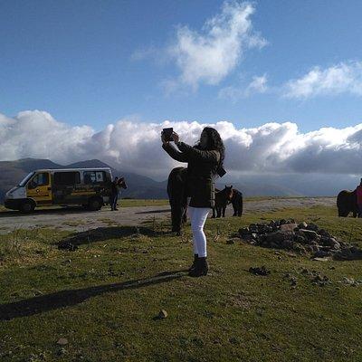 En Gorramakil a 1.087 metros dejamos algunas nubes abajo.