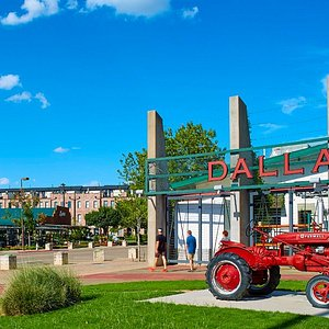 The heart of downtown, the Dallas Farmers Market.
