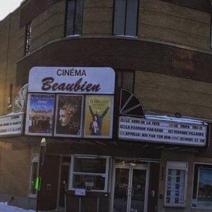La marquise caractéristique du Cinéma Beaubien, en janvier 2018!