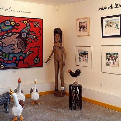 Folk Art at the Black Sheep Gallery, Jeddore, Nova Scotia