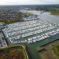 Aerial of Lymington marina