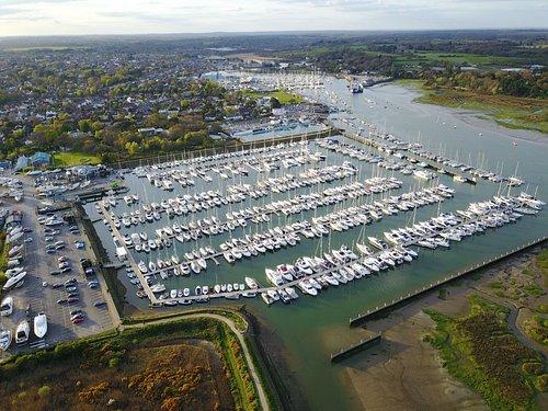 Aerial of Lymington marina