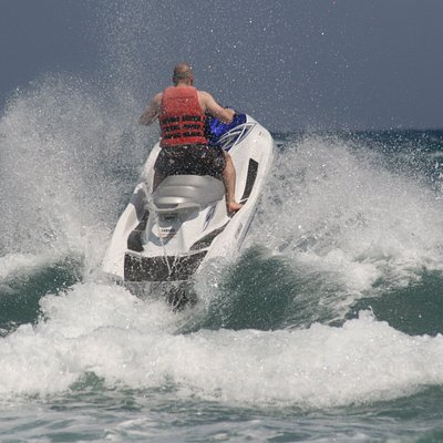 jet ski in waves