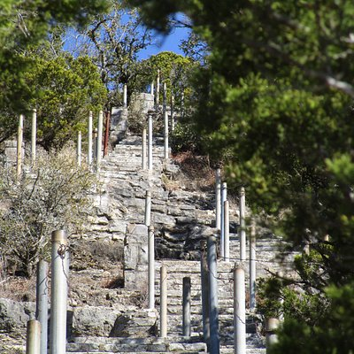 """Steps from the bottom of """"Old Baldy"""""""