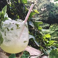 Our first and most popular craft cocktail- Jalapeno Mojito with Thai Basil