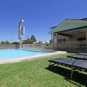 Refreshing renovated salt water pool.