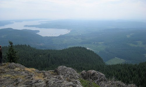 View from top of Menzies Mountain.