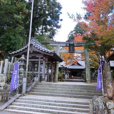 小高い丘の上にある神社