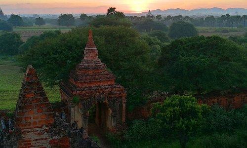 Sunrise on South Guni Temple .