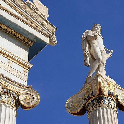 Statue of Apollo at the Academy - TIMELESS Athens Tours Greece - AthensTours.GR