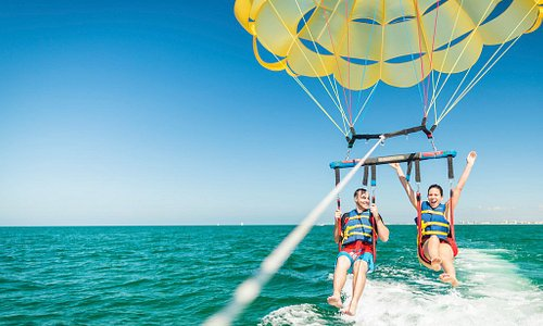 Parasailing off St. Pete Beach