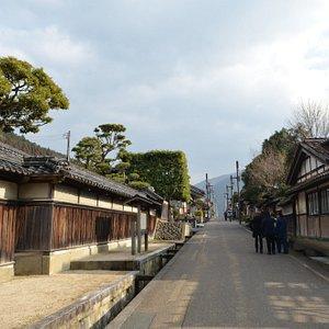 旧街道の町並み