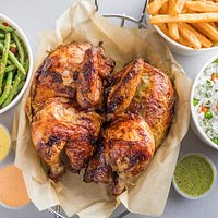 Whole Chicken with 3 sides.