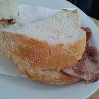 bacon sandwich with white bread.