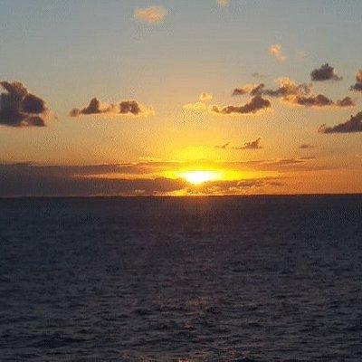 Sunset taken on cruise ship balcony