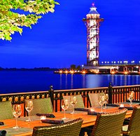 Dining on the Patio overlooking Presque Isle Bay