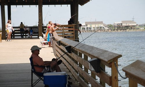 The St. Tammany Fishing Pier is a popular place to cast a line.