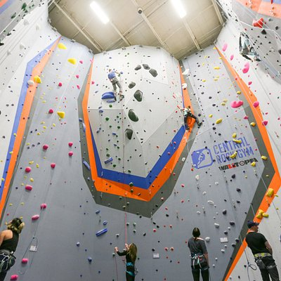 We have tall walls for both top-rope and lead climbing.