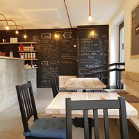 interior with menu