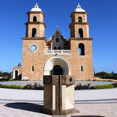 The newly restored and enhanced Cathedral with water feature and labyrinth.