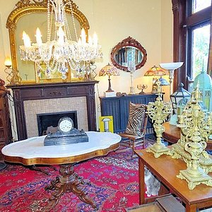 inside victorian house section