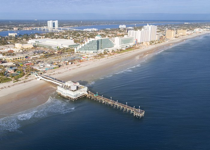 Birdseye view of Daytona Beach, FL