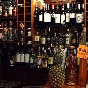 The bar at the Ancora pub!