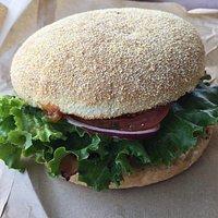 Kiwi Classic Burger - there's a fried egg inside too.