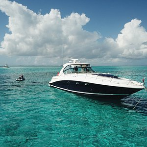 DId you know that our 42ft Searay Sundancer has a waverunner included on board