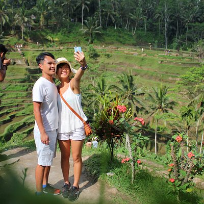 Taking Selfe at Tegalalang Rice terrace view