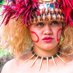 Taupou or daughter of the chief