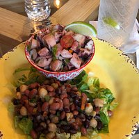Octopus cold salad with a Medley of grains, out of this world delicious!!!
