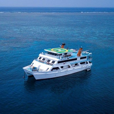 Reef Encounter offers scuba diving and snorkeling liveaboard tours on the Great Barrier Reef.