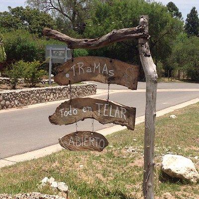 La entrada de .TRaMAs.  Frente rotonda balneario de San Javier