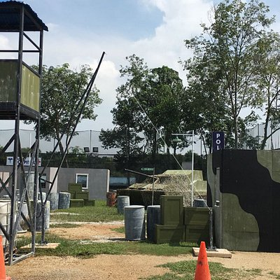 DynastyVille, the only urban paintball arena in Singapore.