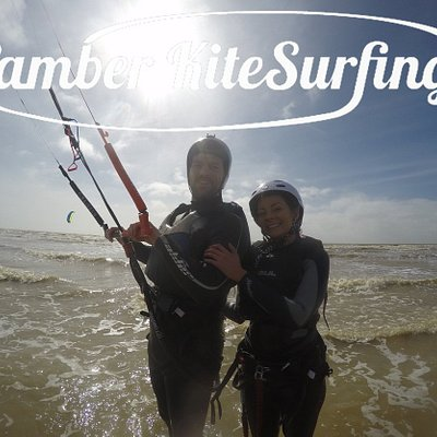 Happy kitesurfing students!