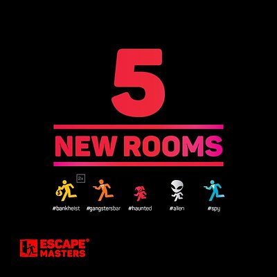 We have 6 experiences and 5 new rooms.Come and escape at Escape Masters Auckland CBD!